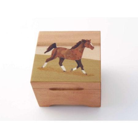 """Coffret à bijoux - marqueterie """"cheval"""" C26"""