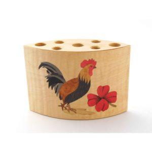 """Pot à crayons en bois """"Coq"""" réf PA17"""