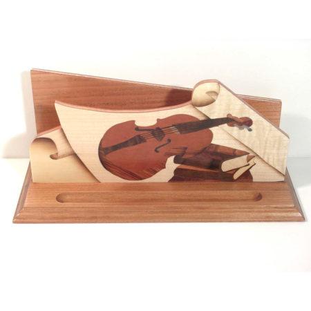 """Range courrier en bois, marqueterie """"violon"""" R3"""