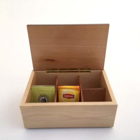 """Boîte à thé - marqueterie """"fée"""" réf BT1"""