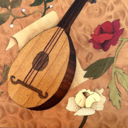 """Coffret à bijoux - marqueterie """"instrument"""" réf P4"""