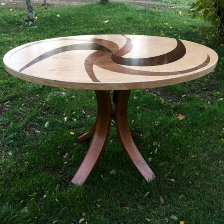 Table ovale en marqueterie réf O1